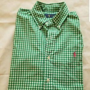 Mens button down polo shirt